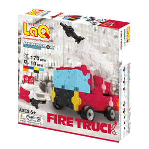 Package featured in the LaQ hamacron constructor fire truck set