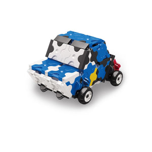 Rally car featured in the LaQ hamacron constructor jet fighter set