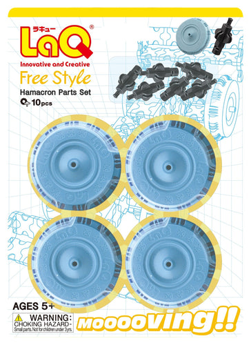 package featured in the LaQ hamacron constructor large wheels set