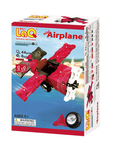 Package featured in the LaQ hamacron constructor mini airplane set