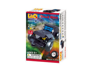 Package front view featured in the LaQ hamacron constructor mini black blast set
