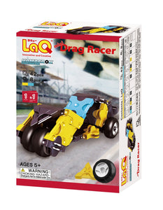 Package featured in the LaQ hamacron constructor mini drag racer set