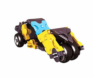Right view featured in the LaQ hamacron constructor mini drag racer set