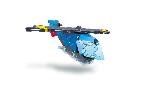 Flying helicopter featured in the LaQ hamacron constructor mini helicopter set