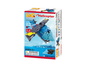 Package front view featured in the LaQ hamacron constructor mini helicopter set