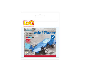 Package featured in the LaQ hamacron constructor mini racer 2 blue set