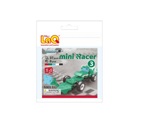 Package featured in the LaQ hamacron constructor mini racer 3 green set