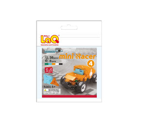 Package featured in the LaQ hamacron constructor mini racer 4 orange set