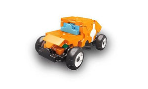 Car featured in the LaQ hamacron constructor mini racer 4 orange set