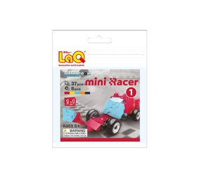 Package featured in the LaQ hamacron constructor mini racer 1 red set