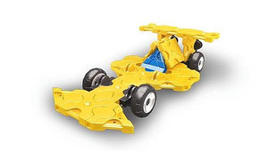 Car featured in the LaQ hamacron constructor mini racer 5 yellow set