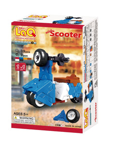 Package featured in the LaQ hamacron constructor mini scooter set