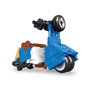Scooter featured in the LaQ hamacron constructor mini scooter set