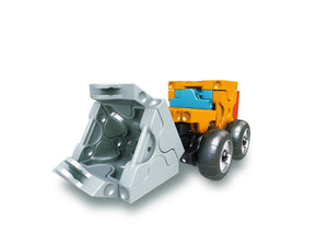 Tractor featured in the LaQ hamacron constructor mini wheel loader set