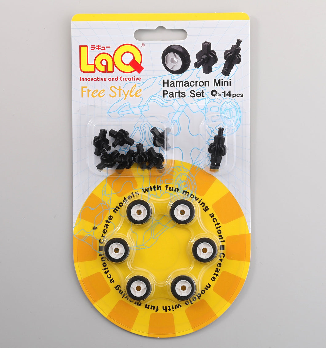 Package featured in the LaQ hamacron constructor mini wheels set