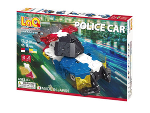 Package front view featured in the LaQ hamacron constructor police car set