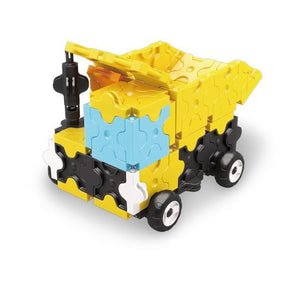Dump truck featured in the LaQ hamacron constructor power digger set