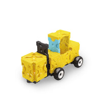 Load image into Gallery viewer, Forklift featured in the LaQ hamacron constructor power digger set