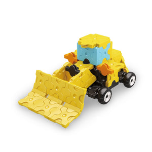 Wheel loader featured in the LaQ hamacron constructor power digger set