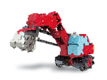 Load image into Gallery viewer, Front view featured in the LaQ hamacron constructor power shovel set