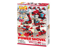 Load image into Gallery viewer, Package back view featured in the LaQ hamacron constructor power shovel set