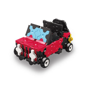 Off road 4x4 featured in the LaQ hamacron constructor race car set