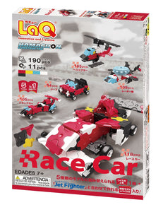 Package back view featured in the LaQ hamacron constructor race car set