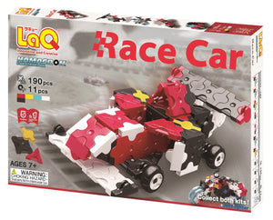 Package front view featured in the LaQ hamacron constructor race car set