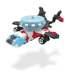 Radar plane featured in the LaQ hamacron constructor race car set