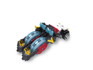 4 wheel motorcycle featured in the LaQ hamacron constructor speed wheels set