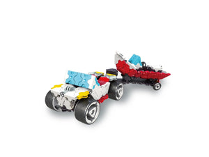 Beach buggy featured in the LaQ hamacron constructor speed wheels set