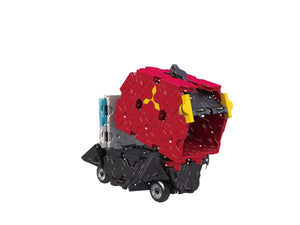 Garbage truck featured in the LaQ hamacron constructor speed wheels set