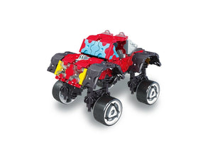 Monster truck featured in the LaQ hamacron constructor speed wheels set