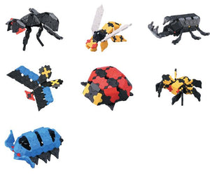 Beetles featured in the LaQ hobby kit beetle set