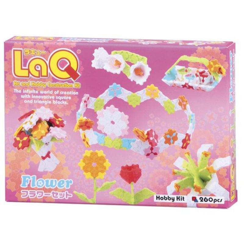 Package featured in the LaQ hobby kit flower set