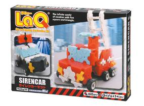 Package featured in the LaQ hobby kit siren car set