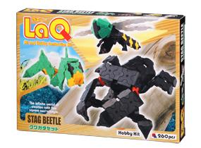 Package featured in the LaQ hobby kit stag beetle set