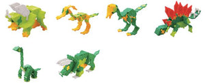All models featured in the LaQ hobby kit triceratops set