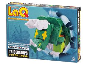 Package featured in the LaQ hobby kit triceratops set