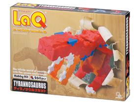 Package featured in the LaQ hobby kit tyrannosaurus set