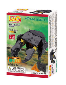 Package front view featured in the LaQ insect world mini stag beetle set