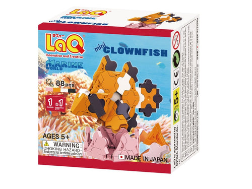 Clownfish featured in the LaQ marine world mini set