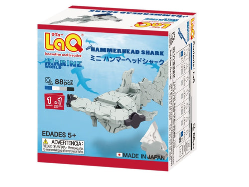 Hammerhead shark featured in the LaQ marine world mini set