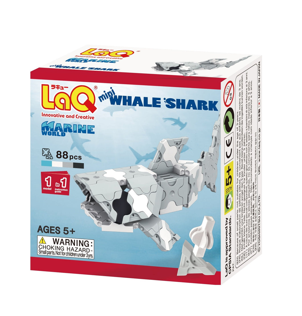 Whale shark featured in the LaQ marine world mini set