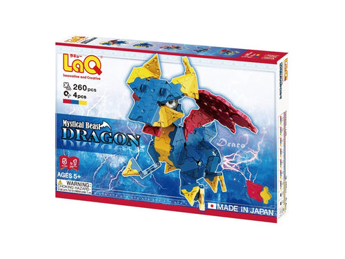 Package front view featured in the LaQ mystical beast dragon set