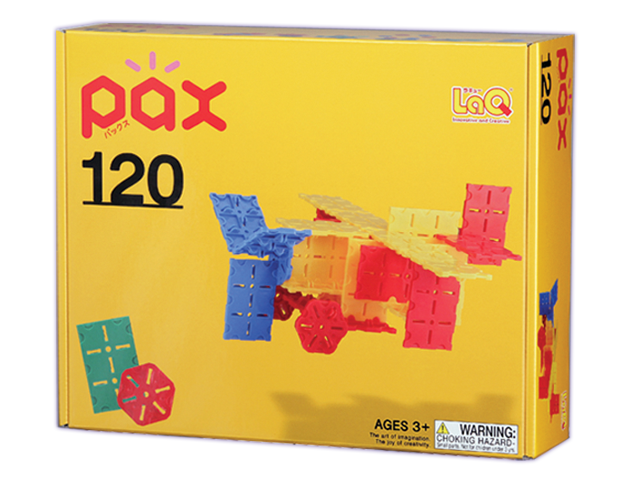Package featured in the LaQ pax 120 set