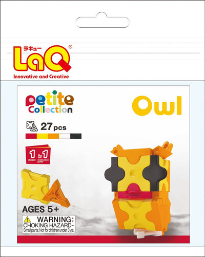Owl set package featured in the LaQ petite set