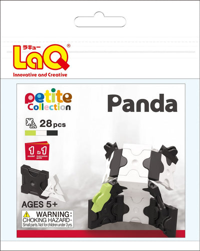 Panda set package featured in the LaQ petite set
