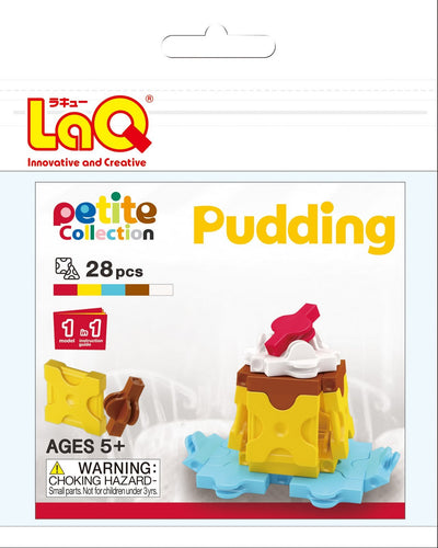 Pudding set package featured in the LaQ petite set