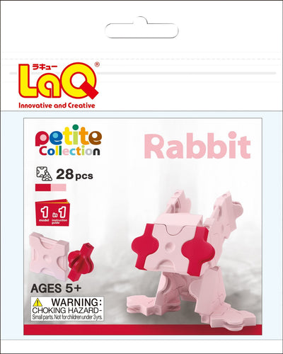 Rabbit set package featured in the LaQ petite set